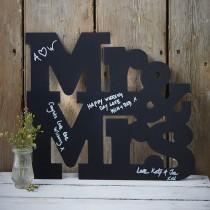 Mr&Mrs chalkboard gastenboek
