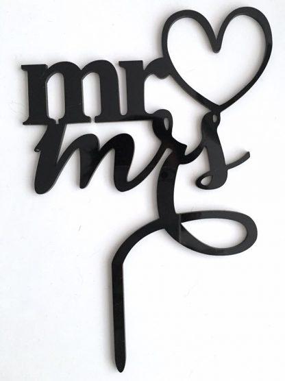 Mr&Mrs taarttopper met hart