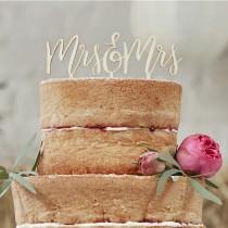 Boho Mrs&Mrs houten taarttopper