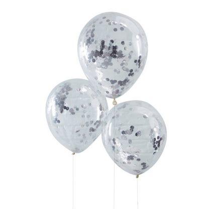 Confetti ballon zilver