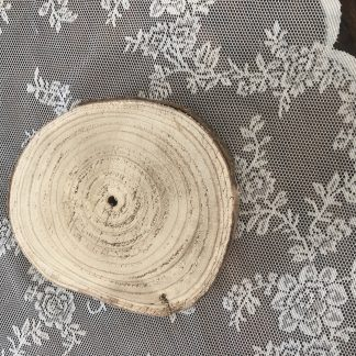 Kleine houten schijven